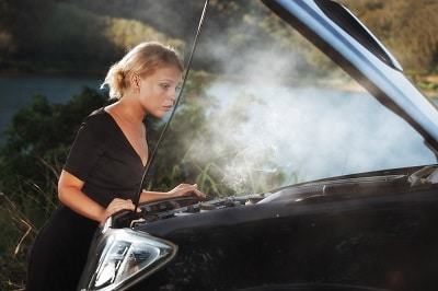 What to do if car is smoking, but not overheating.