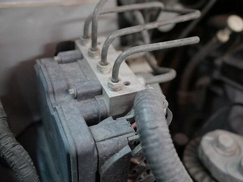 anti-lock braking system (ABS) in a car.